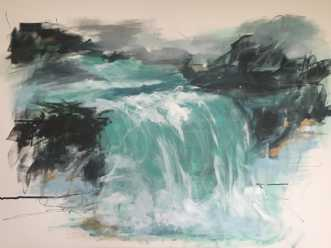 Indtryk fra Island by Birthe Villauma | maleri