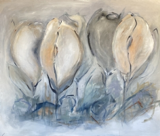 Tulipes sauvages by Birthe Villauma | maleri