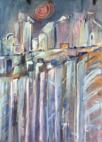 Skyline by Birthe Villauma | maleri