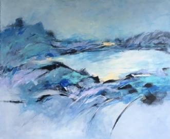 Lac de montagne by Birthe Villauma | maleri