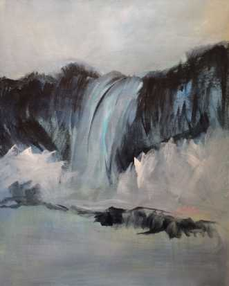 Falling by Birthe Villauma | maleri