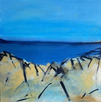 Blues lent by Birthe Villauma | maleri