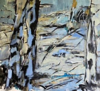 Voir en avant by Birthe Villauma | maleri