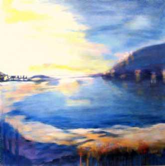Landscape blue 3 by Marianne Mønsted | maleri