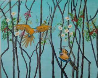 Når livet pludselig.. by Pia Vestmar | maleri