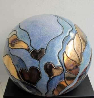 stor gobbel m. hjer.. by Tove Balling | keramik