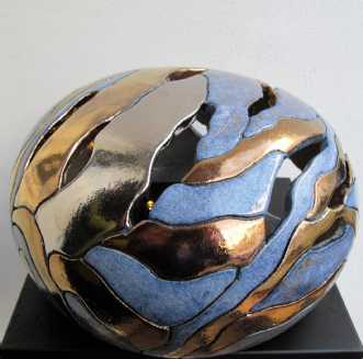 stor gobbel gennemb.. by Tove Balling | keramik