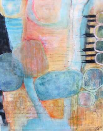 ferskenfarvet 1 by Tove Balling | maleri