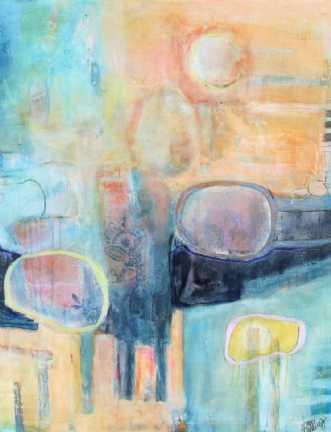 ferskenfarvet 2 by Tove Balling | maleri
