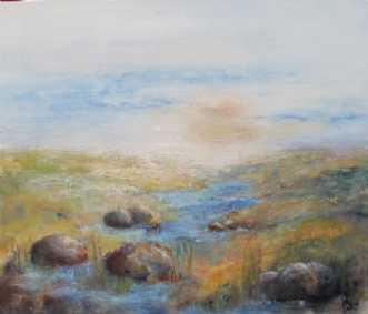 læsø landskab by Tove Balling | maleri