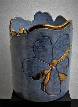 potte mellem m. blo.. by Tove Balling | keramik