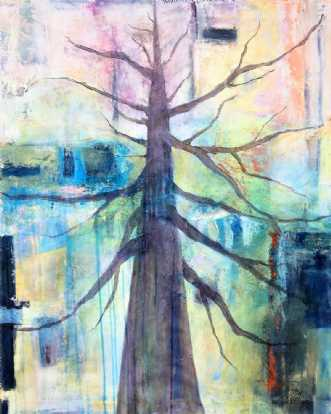 op i træ by Tove Balling | maleri
