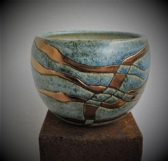 buttet skål m.metal by Tove Balling | keramik
