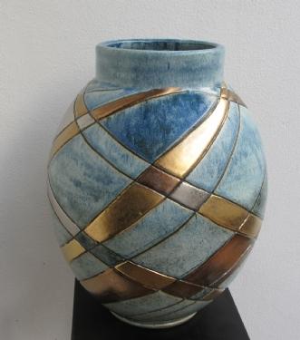 stor buttet vase by Tove Balling | keramik