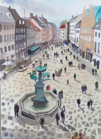 Forår i København by Kamilla Ruus | maleri