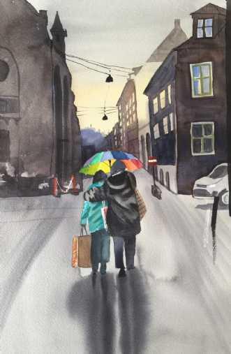 Fiolstræde by Kamilla Ruus | maleri