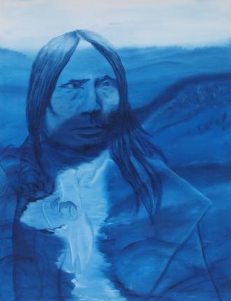 Crazy Horse by Tina Lund Christiansen | maleri