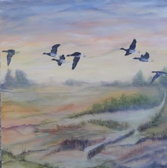 Trækfuglene by Tina Lund Christiansen | maleri