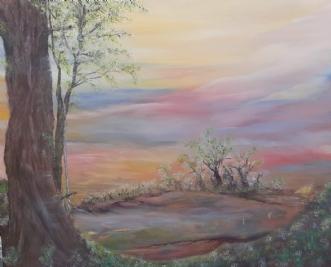 Træets hemmelighed by Tina Lund Christiansen | maleri