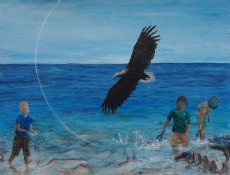 Return of the Eagle by Tina Lund Christiansen | maleri