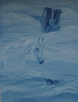 Spirit horses by Tina Lund Christiansen | maleri