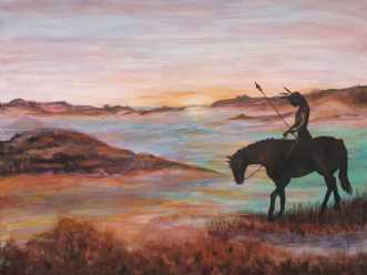 Eftertænksomhed by Tina Lund Christiansen | maleri