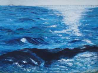 Morgenlys by Tina Lund Christiansen | maleri