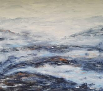 Vinterlandskab by Tina Lund Christiansen | maleri