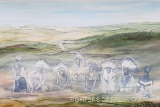 Fighters of freedom.. by Tina Lund Christiansen | maleri