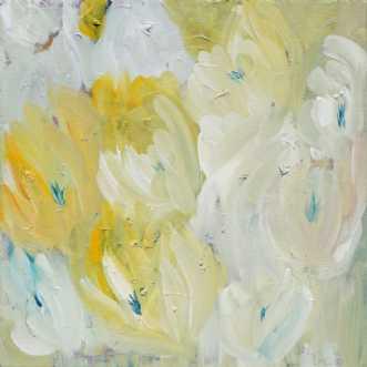 Buket i hvide/gule .. by Kirsten Herse | maleri
