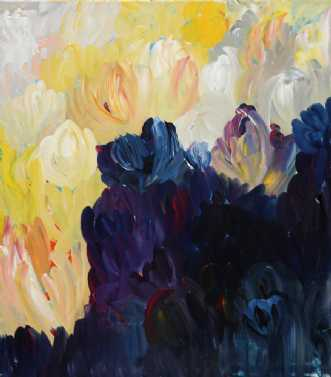 Blomsterengen by Kirsten Herse | maleri