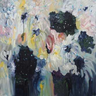 Blomsterhav by Kirsten Herse | maleri