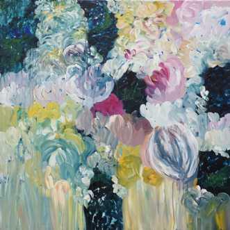 Blomsterverden by Kirsten Herse | maleri