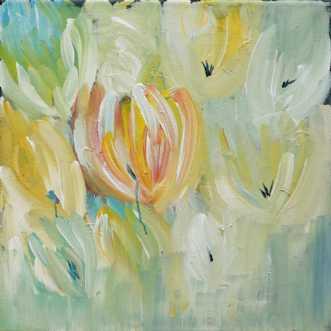 Sommerblomster by Kirsten Herse | maleri