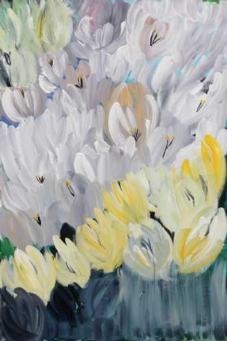 Abstrakte tulipaner by Kirsten Herse | maleri