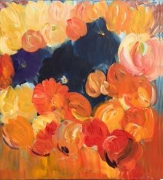 Abstrakte blomster by Kirsten Herse | maleri