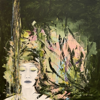 The 8th lady by Henrijete Elmkjær | maleri