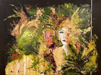 The 4th.lady by Henrijete Elmkjær | maleri