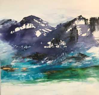 Nordisk landskab in.. by Mette Hansgaard | maleri