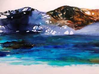 Lanskabsmaleri nord.. by Mette Hansgaard | maleri
