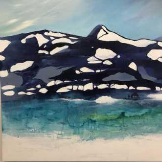 Landskabsmaleri ins.. by Mette Hansgaard | maleri