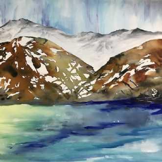 Nordisk landskab  by Mette Hansgaard | maleri