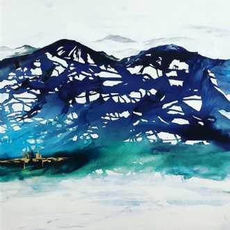 Landskab af Mette H.. by Mette Hansgaard | maleri