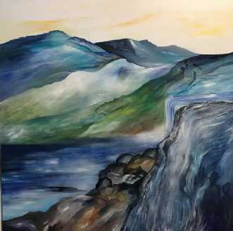 Nordic Landscape by.. by Mette Hansgaard | maleri