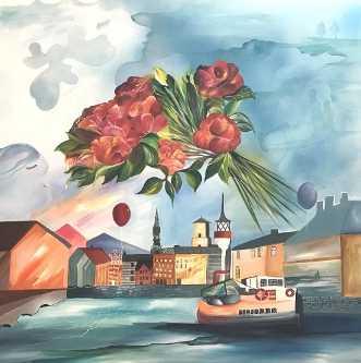 Copenhagen dreaming by Mette Hansgaard | maleri