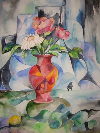 Northlight Aquarell.. by Mette Hansgaard | tegning