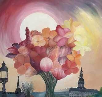 Flowers city of cop.. by Mette Hansgaard | maleri