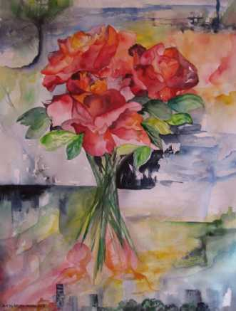 Watercolour. Roses  by Mette Hansgaard | unikaramme