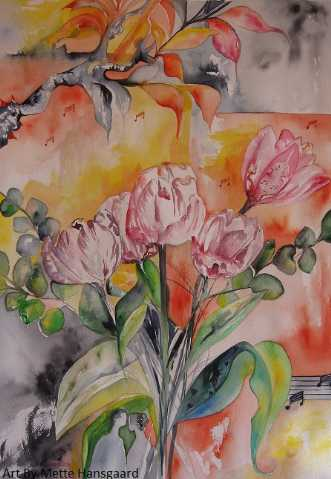 Tulips Watercolour on ..