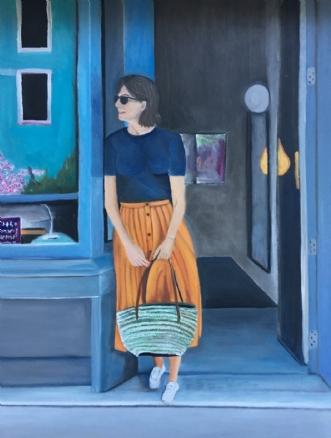 Pigen med orange nederdelafSanne Rasmussen